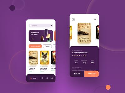 Books application mobile mobile design design uiux application ui store application app books book