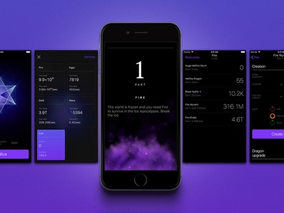The Invisible Dragons apple numbers smoke iphone typography violet black purple dragon ui ios game