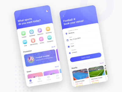 #Exploration - Sport Venue Booking Apps