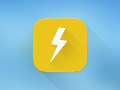 SPARK - Long Shadow Icon long shadow ios icon spark branding identity freelance