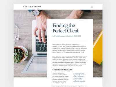 Magazine Style Blog Post magazine blog wordpress typography full bleed pull quote quote proxima nova navicon tldr featured post