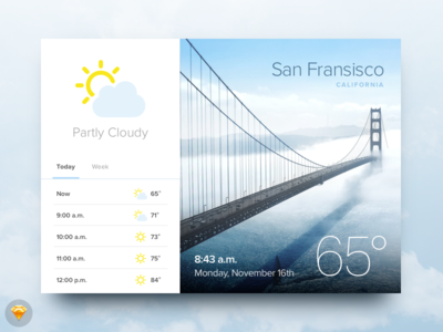 Day 010 - Weather Widget (w/ Sketch file)