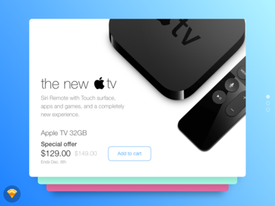 Day 017 - Special Offer (w/ Sketch file) tv apple offer special widget free freebie sketch day017 daily100