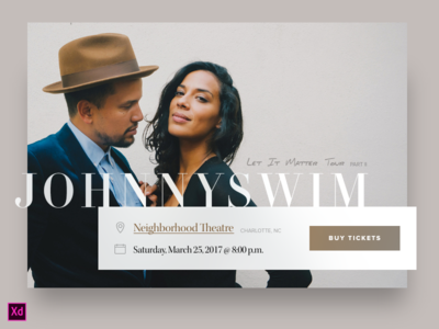 Day 026 - Event Box (w/ Adobe XD file) daily100 day026 event adobe xd xd freebie concert ui source