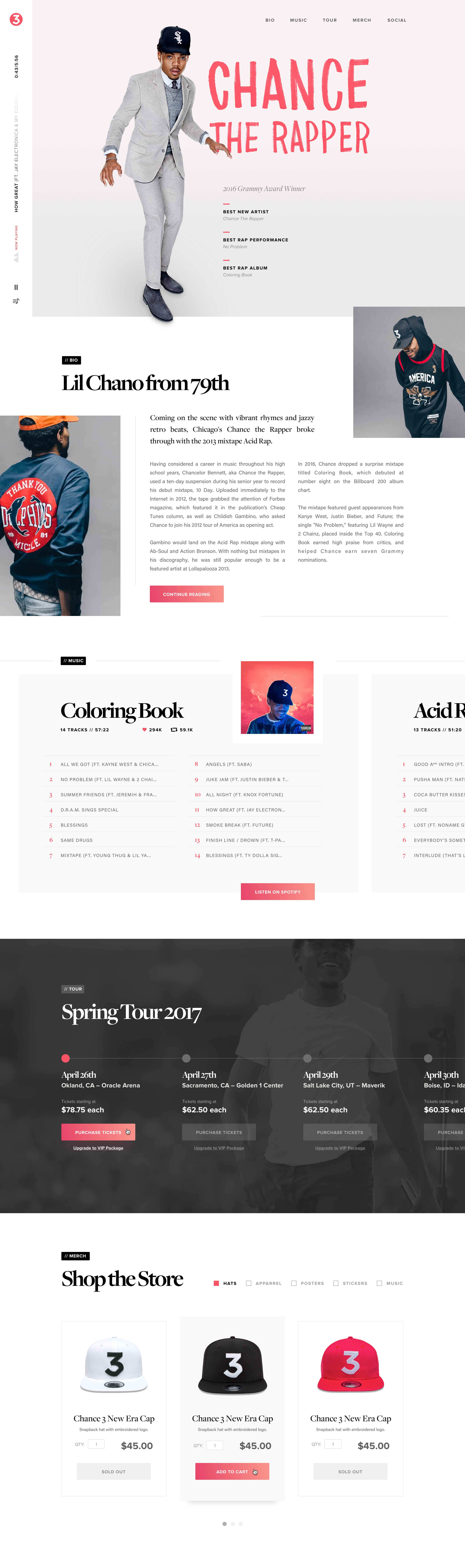 Change the rapper landing page 2x