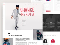 Chance the Rapper – Landing Page