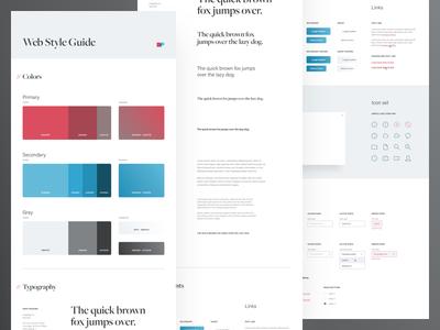 UI Style Guide - DustinPutnam.com typography web digital ui kit identity brand guidelines ui design system style guide portfolio