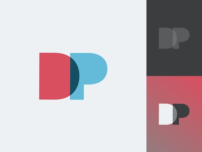 Personal Logo - DustinPutnam.com minimal brand identity branding blending minimalist simple portfolio logo