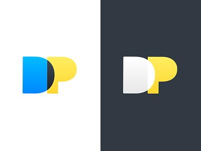 Personal Logo v2 - DustinPutnam.com simple portfolio minimalist minimal logo identity branding brand blending
