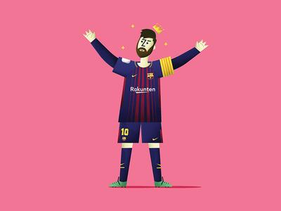 King Leo Messi