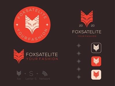 Fox + S + Network ui vector mark logo illustraion icons animal retro logo vintage logo lettter s wolf fox logo designs branding brand identity
