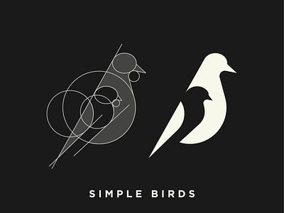 Negative Space - Birds pigeon organic modern logo minimalistic minimal logo mark identity icon grid flat design dove logo negative space clean birds bird logo illustration bird bird icon animal logo