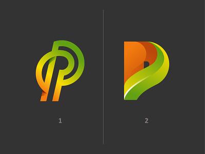 Letter P gradient minimalistic simplistic golden ratio logo p monogram logo typography letter lettering gold geometry geometric modern mark for sale brand for design branding brand