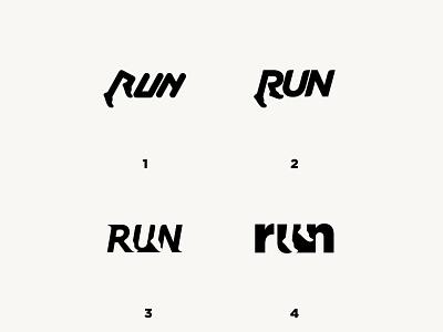 RUN ui creative graphicdesign typography logo design vector illustration logodesign logomark icon logotype run symbol monogram logo branding brand identity