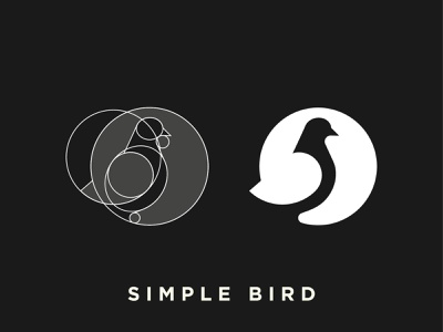 Minimal Bird | Logo grid symbol simple minimal mark logo identity gradient negative space brand bird logo bird illustration bird icon bird animal abstract