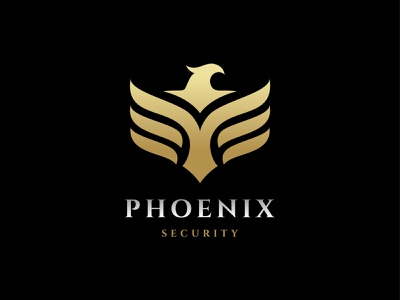 Phoenix shield wings phoenix moore mark logo illustration icon eagle branding bird animal