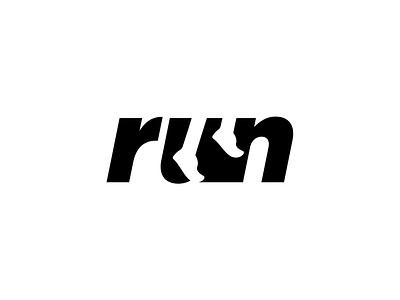 Run logotype run type logo design