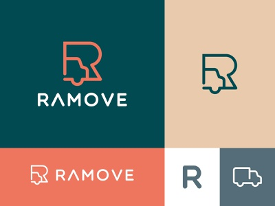 Ramove design brand icon ui logo identity creative brand identity visual identity branding symbol mark mover move car r logo letter