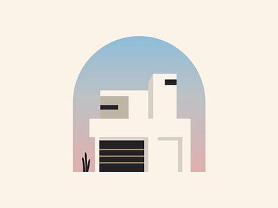 White House landscape city digitalart mood spain vector icon building construction real estate home house illustration design brand logo