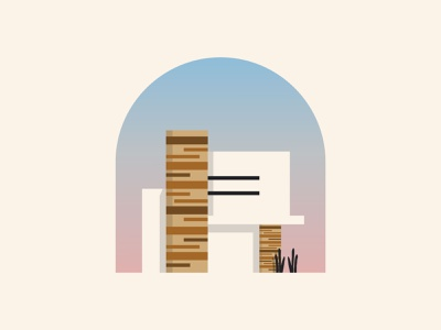 Modern Architecture vector nature wood modern real estate identity brand logo graphics icons construction city building design home illustration house architecture