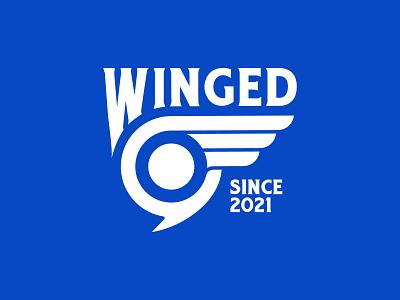 Winged World Forum logomark logotype sports vector vintage tshirt travel flight wings fly modern icons simple bird typography illustration design branding logo