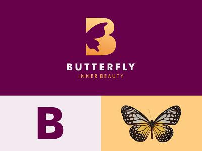 Butterfly mark initial elegant luxury letters branding icon b logo letter logo symbol vector butterfly logo fly design beautiful beauty logo illustration women butterfly