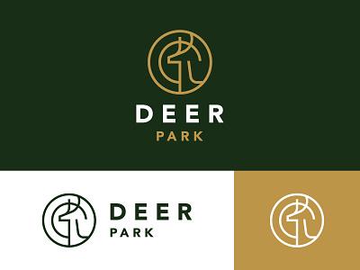 Deer Park vector wild illustration horn awesome identity deer logo modern logo winter mark symbol monoline stag icon branding logo animal deer