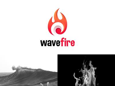 wavefire graphic color vector brand design brand identity logo design brand logodesign logos dynamic gradient water flame fire ocean sea wave branding illustration logo