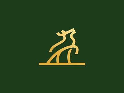 Deer icon mark symbol branding logo line art design monoline minimal stag animal deer