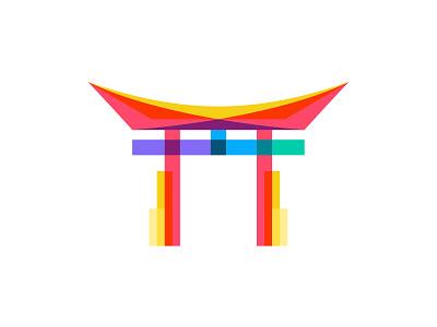 Torii traditional architecture city building identity branding design illustration mark logo symbol icon gate torii japan