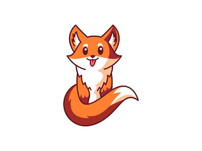 Cute Fox cute logo logo design illustration orange mascot dog wolf logo cartoon character design cute wolf fox icon fox logo fox