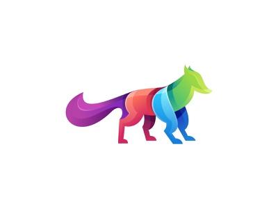 Colorful Fox branding animal vector character brand foxxy illustration design colorful wolf logo fox logo wolf gaming logo fox