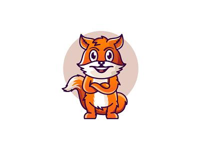 Fox Mascot Illustration mascot design flat fox illustration fox logo mascot logo digital art vector fox character character mascot wolf fox animal design art illustration