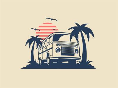 Miami Beach Illustration inspirations coreldraw logoinspirations creative garphicdesigner graphicdesign logodesigner logodesigns logotype logos logo