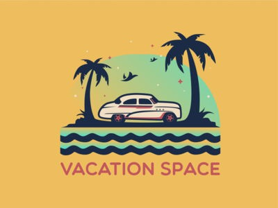 Vacation Space Illustration inspirations coreldraw logoinspirations creative garphicdesigner graphicdesign logodesigner logodesigns logotype logos logo