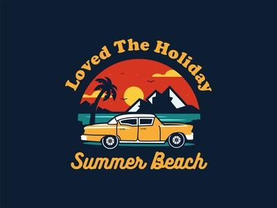 Summer Beach Car Vacation