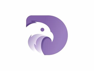 Letter D + Eagle Logo