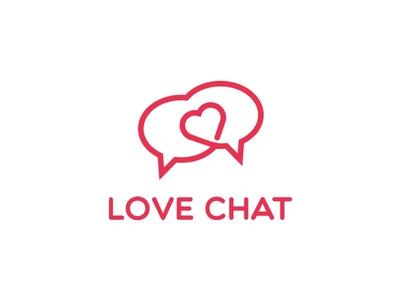 Love + Chat bubbles Logo