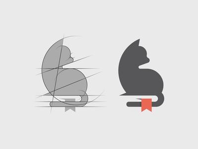 Cat + Book Logo