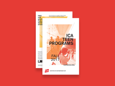 ICA Teen Programs Flyer (Front/Back)