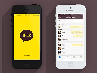 Kakaotalk iOS7 Re-Skin kakaotalk ios7 reskin redesign iphone5 iphone5c
