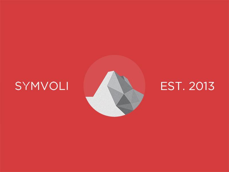 Symvoli logo creative agency digital mountain low poly circular circle