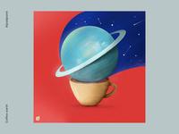 Coffee earth earth artistic illustrator digital art abstract art procreate art illustration