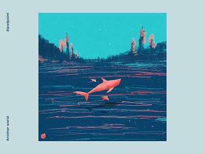 Another world imagination whale abstraction illustrator illustration abstract art procreate art digital art artistic