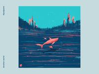 Another world whale abstraction illustrator illustration abstract art procreate art digital art artistic