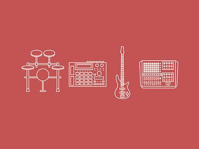 #1 Disclosure Live Setup illustration apc ableton 2d flat mpc bass pads drums akai samples