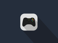 'Xbox' video game remote iOS Flat App Icon Concept