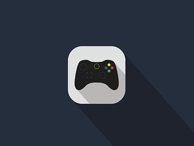 'Xbox' video game remote iOS Flat App Icon Concept controller xbox flat design ios iphone app illustrator