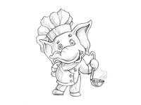 Elephant Chef - Character design
