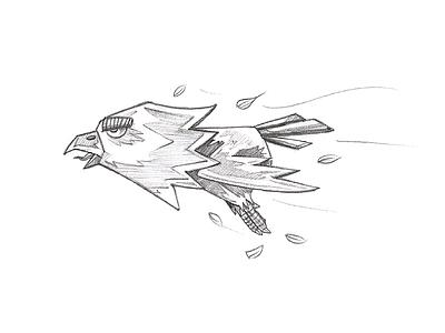 Gaming Bird Sketch character sketch gaming sketch cartoon sketch sketching pencil sketch draw sketch